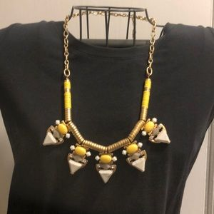 Yellow, silver, gray, and gold necklace